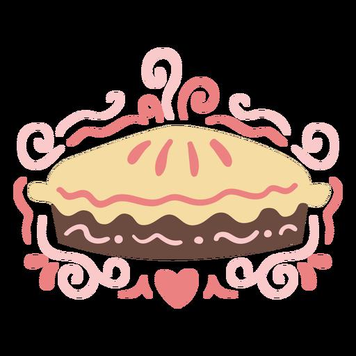 Pink pie dessert swirls