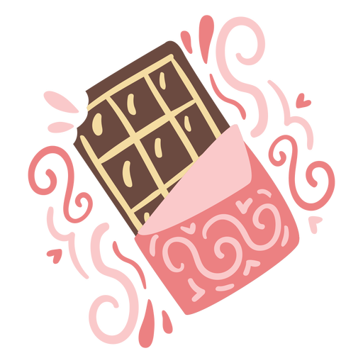 Ornamented chocolate bar doodle color