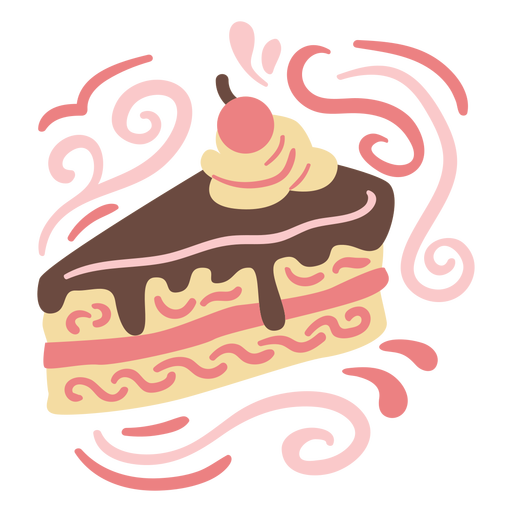 Ornamented cake doodle color