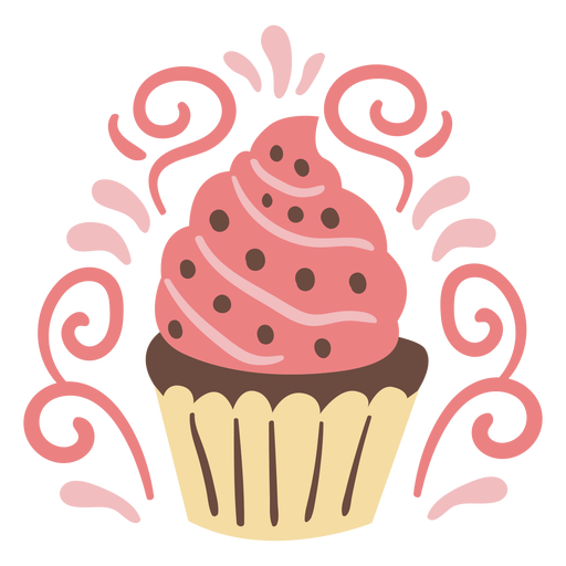 Ornamented cupcake doodle color