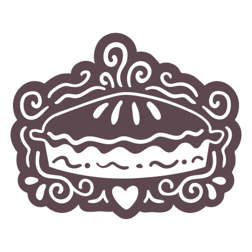 Ornamented pie doodle cut out
