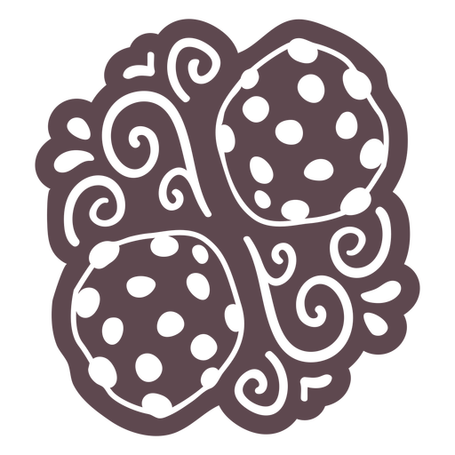 Ornamented cookies doodle cut out