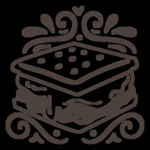 Sandwich design filled stroke