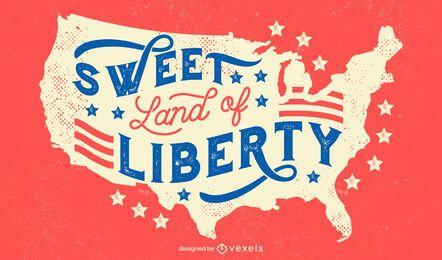 Tierra de la libertad 4 de letras de julio