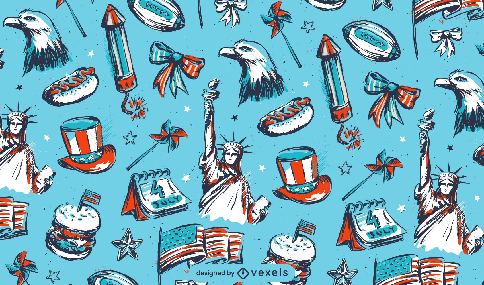 Independence day elements pattern