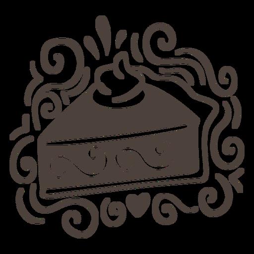 Chocolate cake pattern cut out