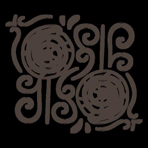 Lollipop symmetrical design stroke