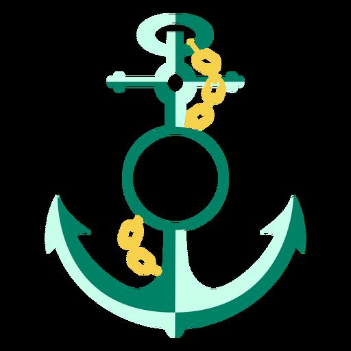 Anchor badge flat
