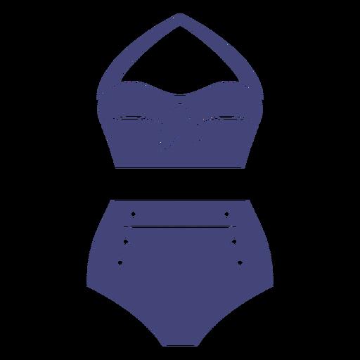 Bikini swimsuit cut out