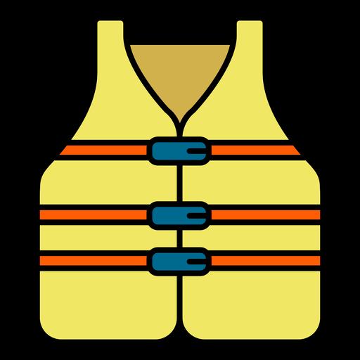 Yellow lifeguard vest