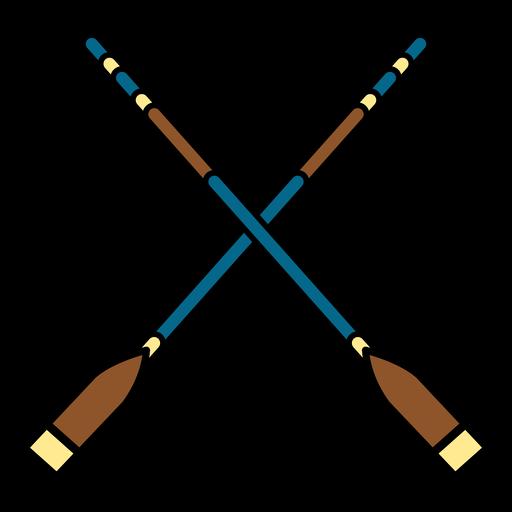 Double oars boat equipment