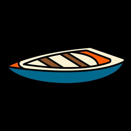 Small boat color stroke