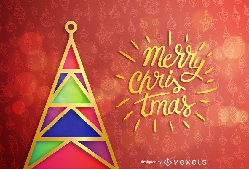 Tarjeta de felicitación de Navidad y Año Nuevo.
