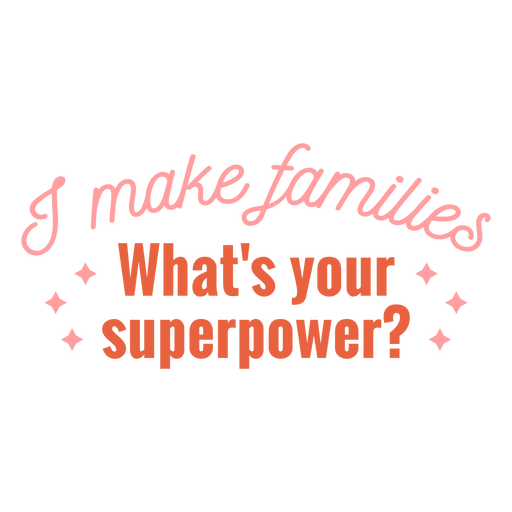 I make families quote flat