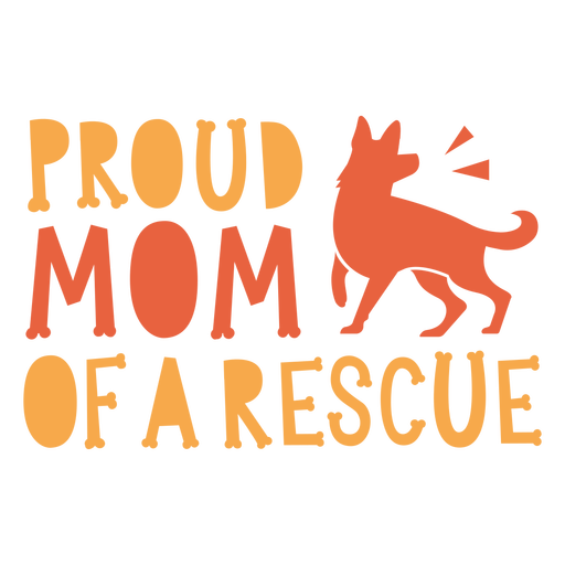 Mom of a rescue quote flat