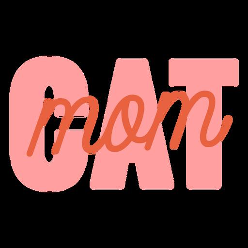 Cat mom flat sign