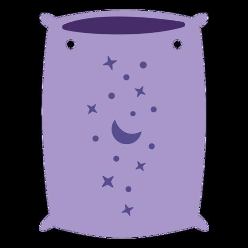 Purple pillow semi flat