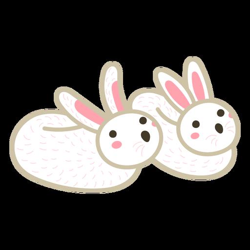 Bunny slippers color stroke