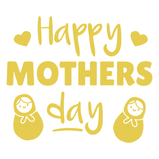 Happy mother's day yellow quote cut out