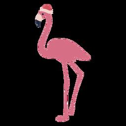 Christmas flamingo flat