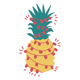 Christmas pineapple flat