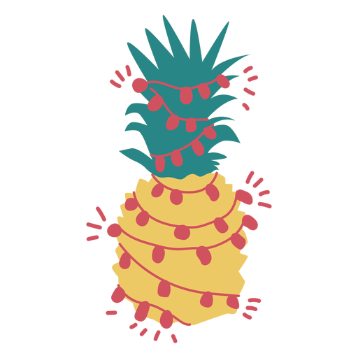 Christmas pineapple flat Transparent PNG