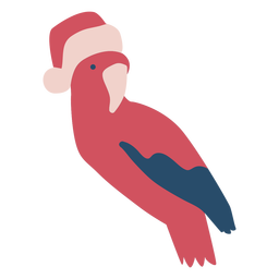 Christmas parrot flat