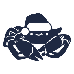 Christmas crab cut out