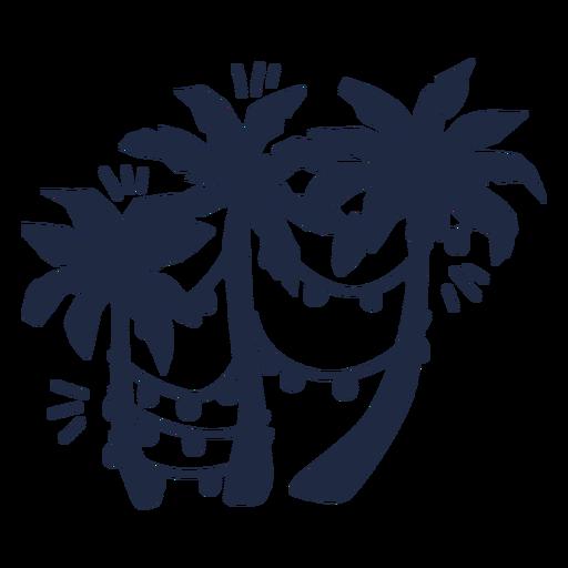 Christmas palm trees silhouette
