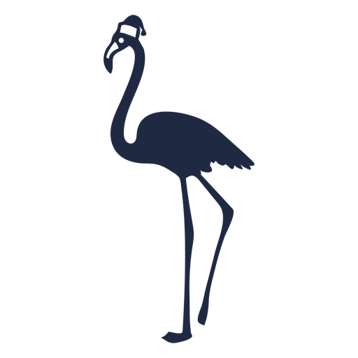 Christmas flamingo cut out