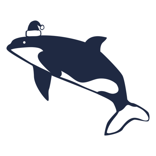 Christmas whale cut out