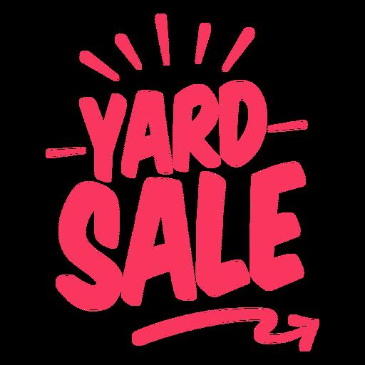 Yard sale sign badge
