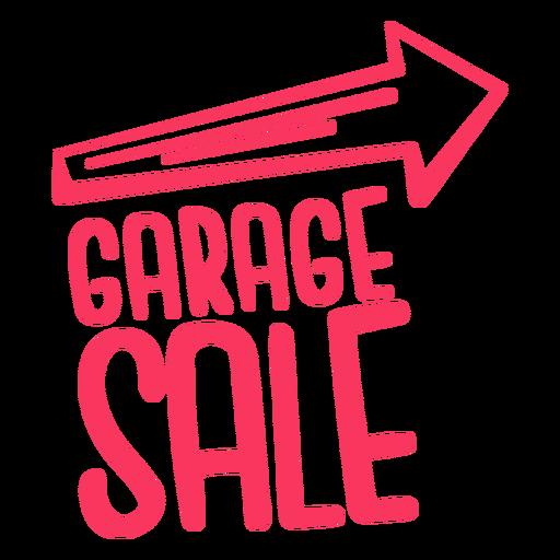 Garage sale sign badge