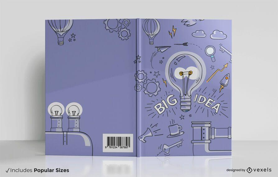 Design de capa de livro com grandes ideias