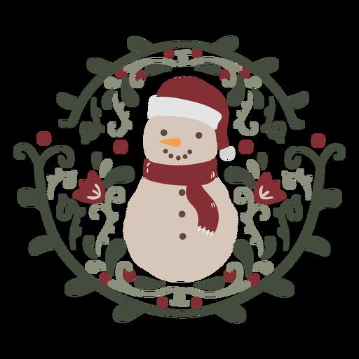 Snowman organic design semi flat
