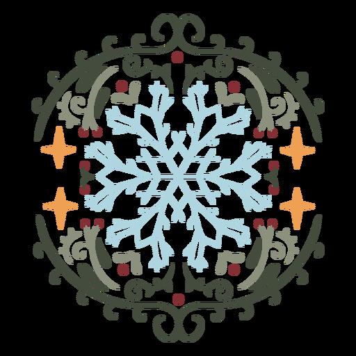 Snowflake ornamental design flat