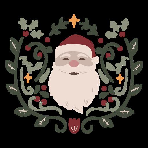 Santa Claus ornamental design semi flat