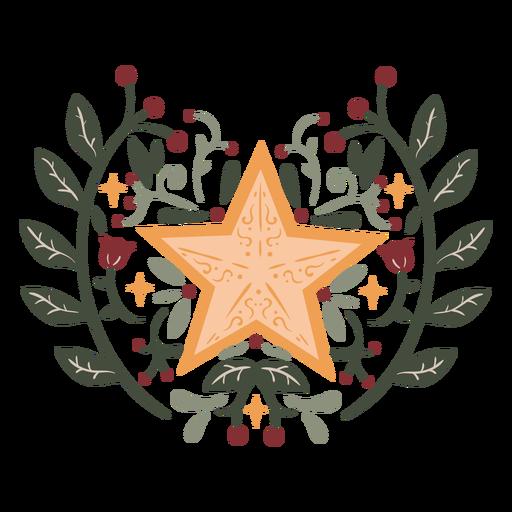 Star organic design color stroke