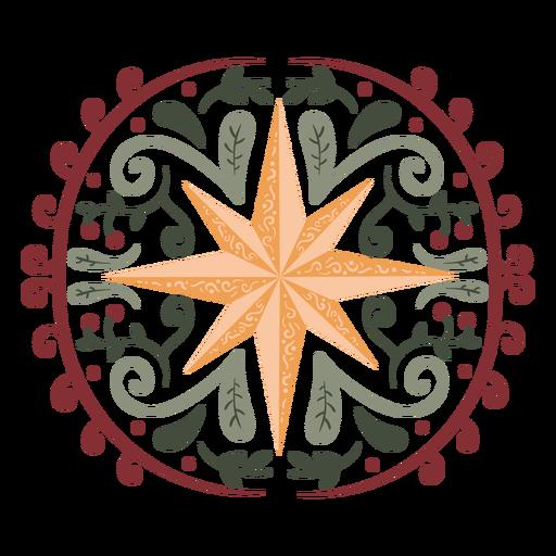 Beautiful star organic design color stroke