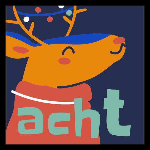 Happy reindeer christmas holiday