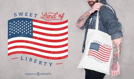 Design de sacola para quatro de julho