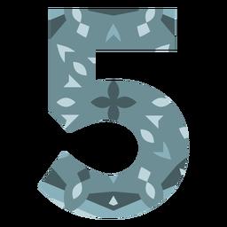 Number 5 mandala