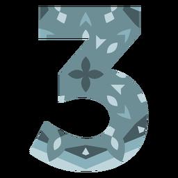 Number 3 mandala