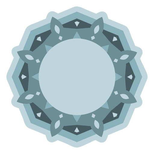 Light blue fractal semi flat