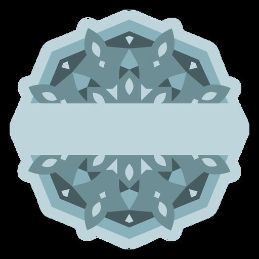 Light blue fractal label semi flat
