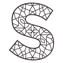 Alphabet letter s stroke mandala