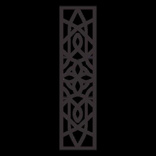 Alphabet letter i stroke mandala