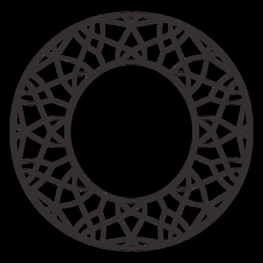 Alphabet letter o stroke mandala