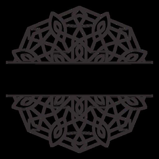 Mandala label stroke