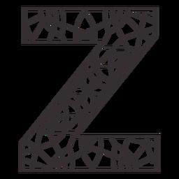 Alphabet letter z stroke mandala